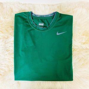Nike Pro Green Workout Performance Shirt Large